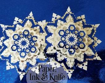 3d Paper Snowflake Etsy