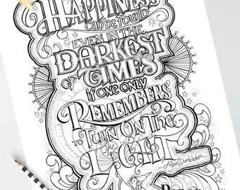 Harry Potter Coloring Book Etsy