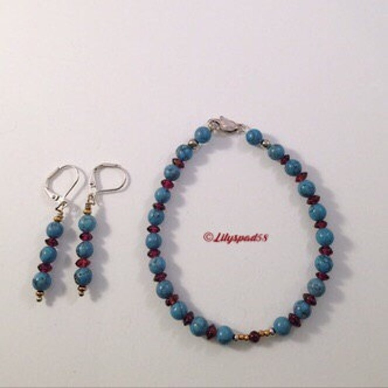 Gifts Under 50 Special Gift for Her Boho Bead Set Art Nouveau Style Natural Garnet Beads Southwest Style Artisan Made