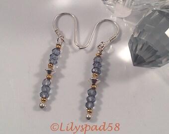Gemstone Beaded Earrings, Gift for Her, Earrings, Stone, Silver, Art Nouveau, Jewelry, Easter, Wedding, Christmas, Valentines, Boho
