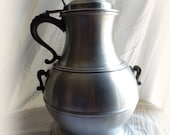 Large PEWTERTONE 14 quot Tall Stein and Tankard Ice Bucket Cooler Combined. SEYMOUR MANN Imports, Italy Mid Century Bar Cart. Barware, Bar Decor