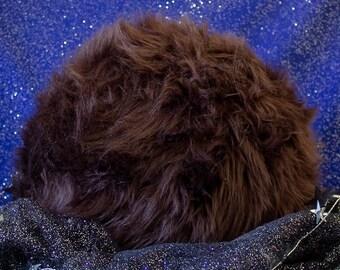 Classic Star Trek Tribble Throw Pillow - Chocolate - Medium - Gift for Trekkie Friends - Nerd Home Decor - Collectible Plush - FREE SHIPPING