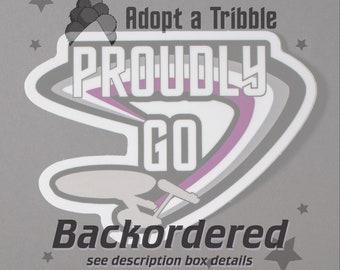 "BACKORDER 6"" Ace ""Proudly Go"" Vinyl Sticker — Great Little Gift for Ace Star Trek Fans and Allies — LGBTQ+ Trekkie Accessories"