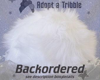 BACKORDER Collectible Star Trek Tribble Throw Pillow - Marshmallow - Medium - Made to Order