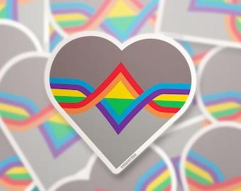 BACKORDER Rainbow Pride Wesley Crusher Sticker — Vinyl LGBTQ+ Decal for Queer Star Trek TNG Fans & Allies — Nerdy Gay Pride Swag