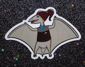 "PteroDaxtyl (#006) ""Tyrannosaurus Treks"" Sticker — Collectible Star Trek: Deep Space 9 Dax Decal for Laptops & Tablets — Trekkie Dinosaur"