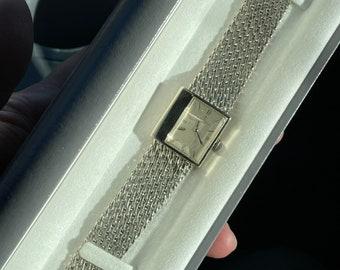 Vintage Baume & Mercier 14k White Gold Manual Wind Dress Unisex Watch