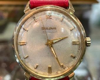 Scarce Bulova 30 Jewel Automatic 14K Solid Gold Watch
