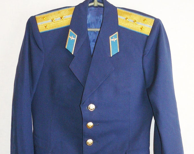 Air Force Captain Parade Blazer Uniform Jacket Soviet Russian Military Tunic