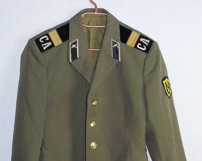 Russian Soviet Army Military Tunic Blazer Sergeant Uniform Military Jacket
