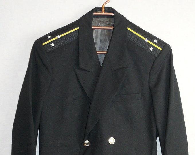 Soviet USSR Navy Officer Uniform Lieutenant Jacket Naval Tunic