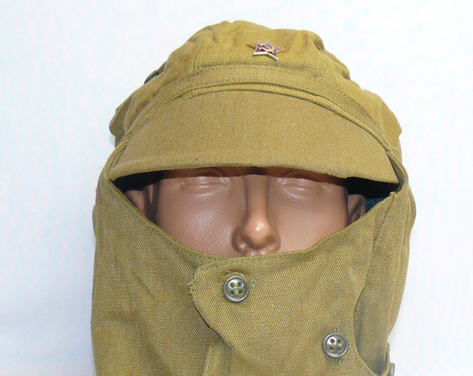 Soviet Union Military  AFGHANISTAN Soldier's Cap with Dust  Mask USSR Uniform