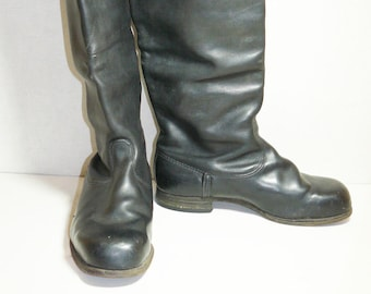 Soviet Russian Army Officer Leather Boots Military Uniform Size 9 US
