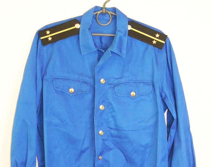 Original Soviet Russian Military Navy Tropic Uniform Lieutenant Jacket Tunic USSR