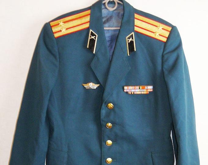 Parade Uniform Jacket Blazer Soviet Russian Army Military Colonel Tunic VTG USSR