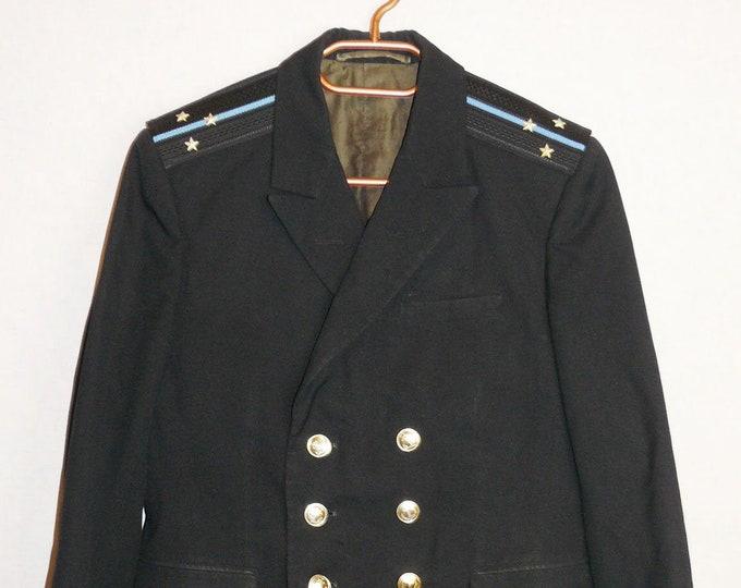Soviet USSR Navy Officer Uniform Lieutenant Naval Jacket Tunic Marine Battleship