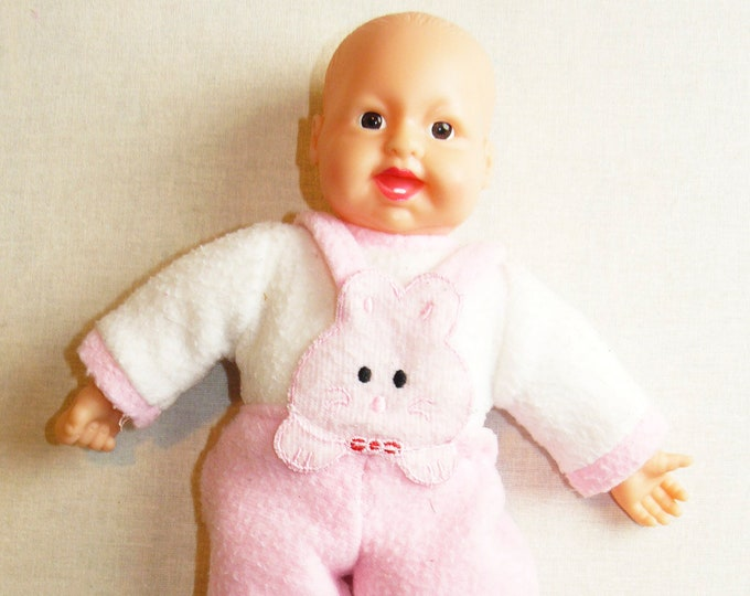 Vintage Toy Doll Plastic Babe Soviet Russian Baby Child 26 cm/10.2 in USSR