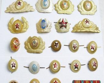 Ukraina Army Trident Military Ushanka Hat Cap Beret Metal Pin Badges h