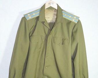 Original Soviet Russian Army Military Daily Uniform Lieutenant Jacket Tunic USSR