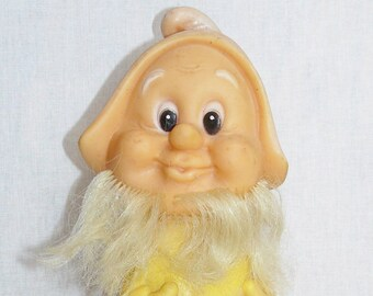 Original Vintage Soviet Russian Rubber Toy Doll Dwarf USSR