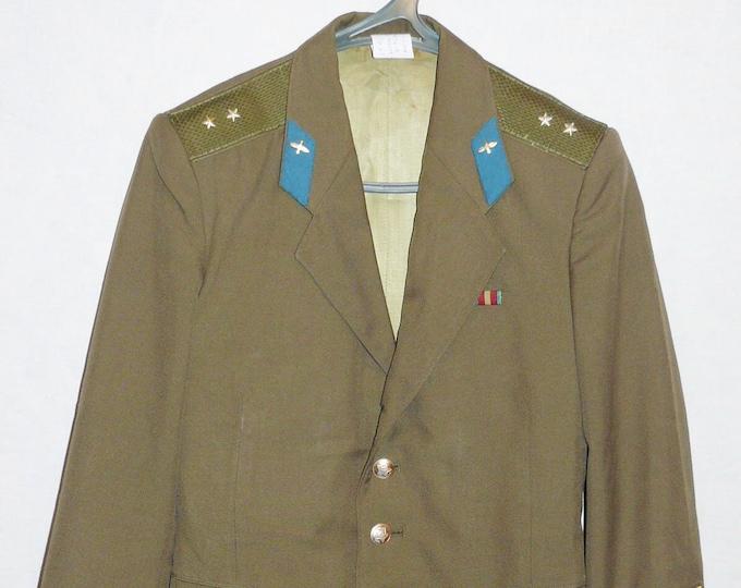Soviet Uniform Jacket Blazer Russian Army Air Force Tunic Ensign Military