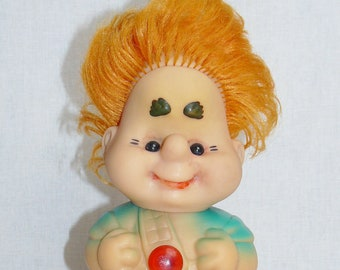 Vintage Original Soviet Russian Rubber Toy Doll Karlsson USSR