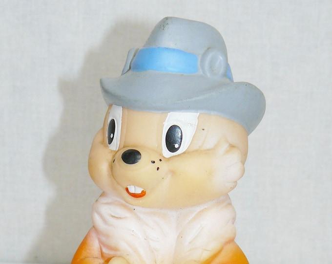 Vintage Original Soviet Russian Rubber Сhipmunk Chip Toy Doll USSR