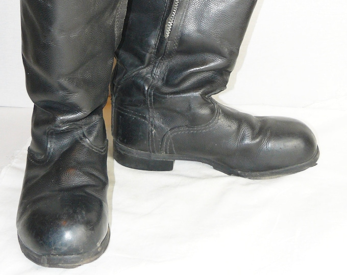 Soviet Russian Northern Area Air Force Pilot Leather Boots Sheepskin Inside Small Size 40 (Ru)
