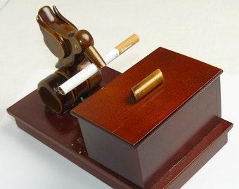 "RARE ! Vintage Russian Soviet Cigarette Box Case Holder USSR Dispenser ""Bird"""