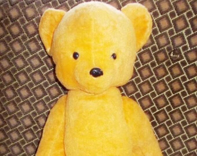 Original Soviet Russian Vintage Teddy Bear Plush Sawdust Toy Doll USSR 66 cm 1971