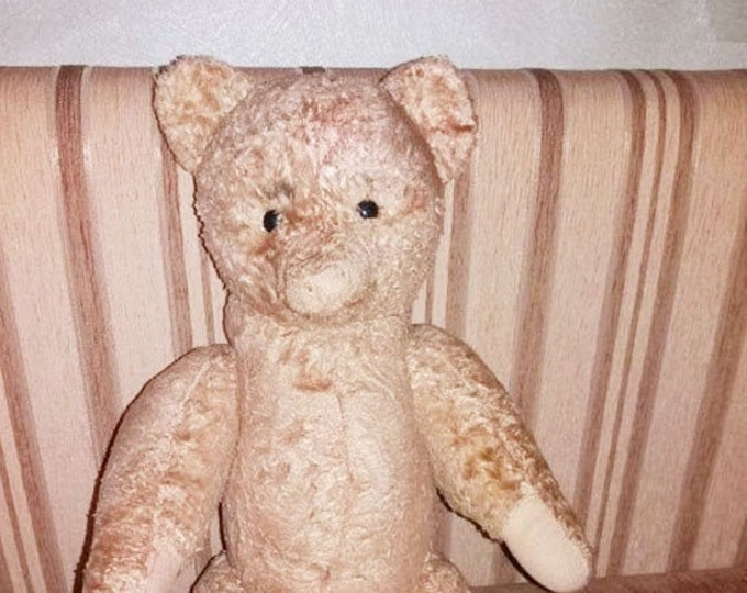Original Soviet Russian Vintage Plush Toy Teddy Bear Doll USSR 55 cm 1950's-1960's