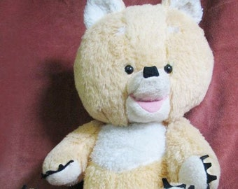 Original Soviet German Vintage Teddy Bear Plush Toy Doll GDR 62 cm 1970's-1980's