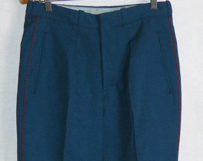 Vintage Russian Officer Pants Parade Soviet Army Uniform Trousers
