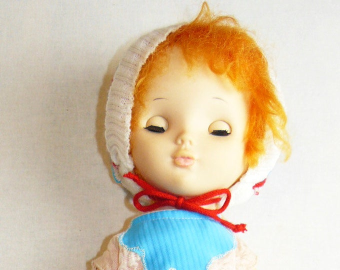 Toy Doll Vintage Plastic Soviet Russian Baby 47 cm/18.5 in USSR