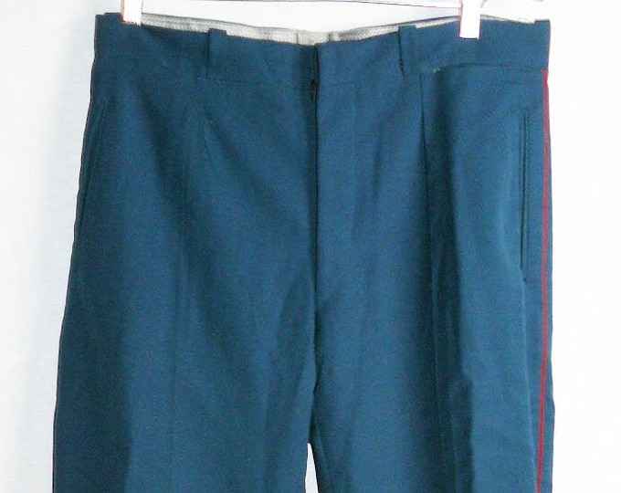 Parade Vintage Soviet Army Officer Breeches Uniform Pants Galife Trousers USSR