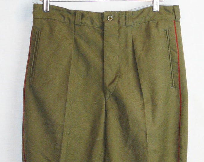 Vintage Soviet Army Pants Breeches Galife Trousers Russian Officer Uniform VTG USSR