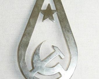 Old Vintage Russian Soviet Top Banner Flag Star Hammer and Sickle USSR