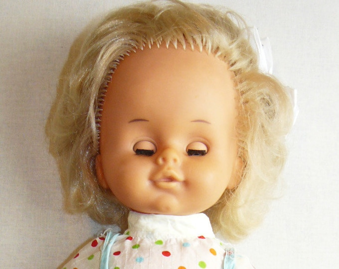 Vintage Toy Doll Plastic Babe Soviet Russian Baby Child 41 cm/16.1 in VTG USSR