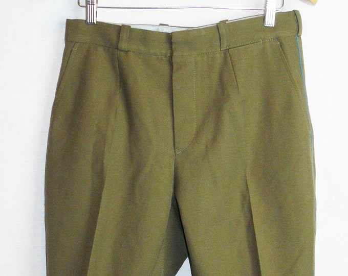 Vintage Soviet Army Breeches Pants Trousers Galife Russian Officer Uniform VTG USSR