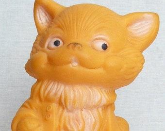 Vintage Original Soviet Russian Rubber Cat Toy Doll  USSR