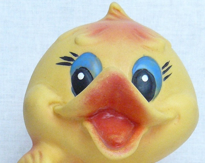 Vintage Original Soviet Russian Rubber Duckling Toy Doll USSR