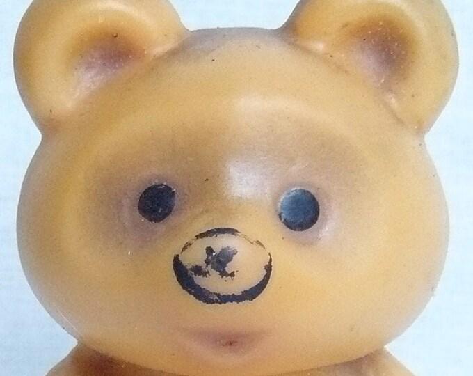 Vintage Original Soviet Russian Teddy Rubber Bear Toy Doll  USSR