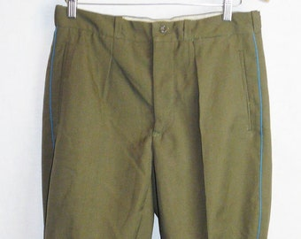 Vintage Army Breeches Pants Trousers Galife Soviet Russian Officer Uniform VTG USSR