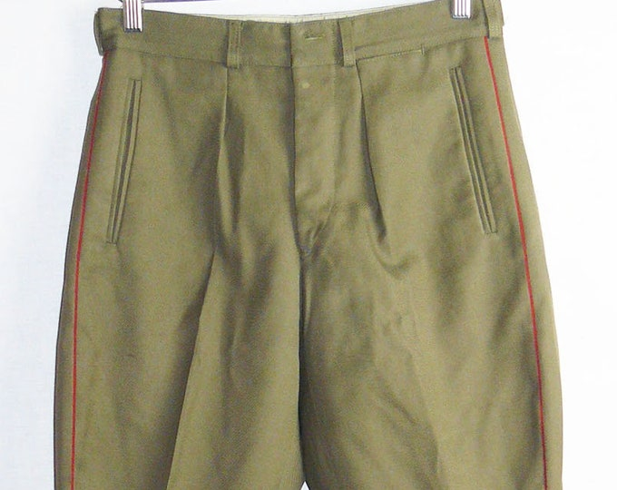 Vintage Soviet Army Trousers Pants Breeches Officer Russian Uniform VTG USSR