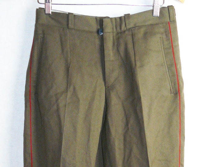 Vintage Soviet Army Pants Trousers Breeches Officer Russian Uniform USSR VTG