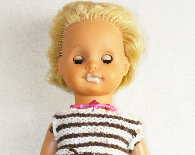 Doll Vintage Toy Plastic Babe Soviet Russian Baby Child 37 cm/14.5 in VTG USSR