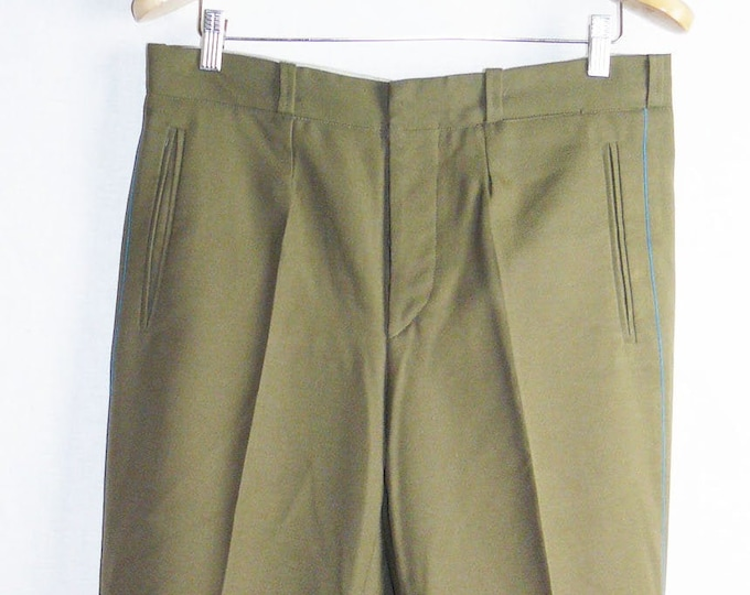 Vintage Officer Trousers Pants Soviet Army Russian Daily Uniform USSR VTG