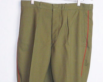 Vintage Soviet Army Officer Daily Uniform Pants Galife Trousers USSR