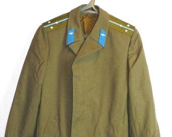 Lieutenant Officer Military Coat Cloak Uniform Soviet Russian Red Army Air Force