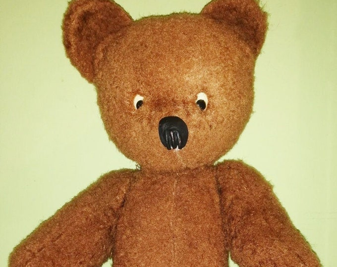 Original Soviet Russian Vintage Plush Toy Teddy Bear Doll USSR 1950's - 1960's